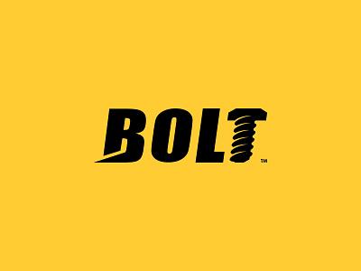Bolt logotype logomark negativespace forsale construction design illustration branding brand icon logo
