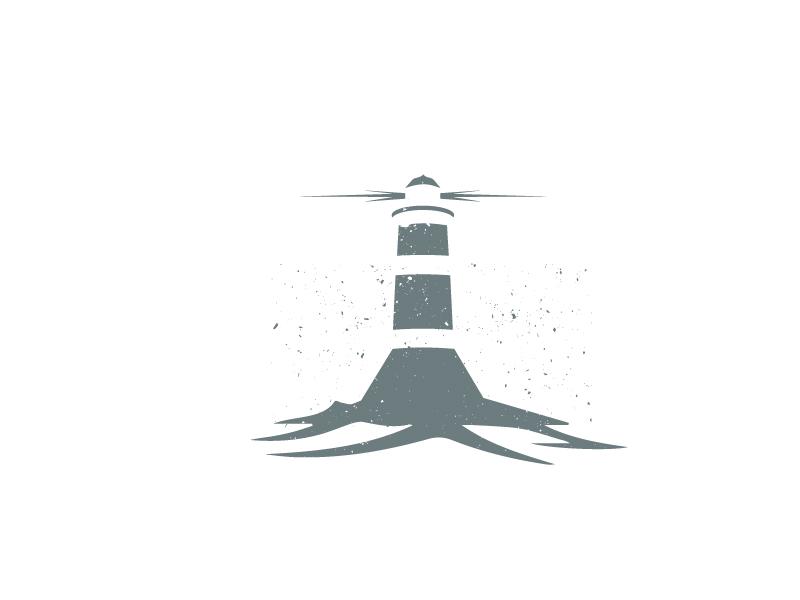 Lighthouse concept ships ocean waves sea illustration doodle logo lighthouse