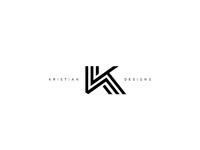 Kristian designs logo monochrome