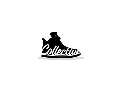 Collective Sneakers cursive font lettering typography footwear sports nike jordans sneaker shoe logo
