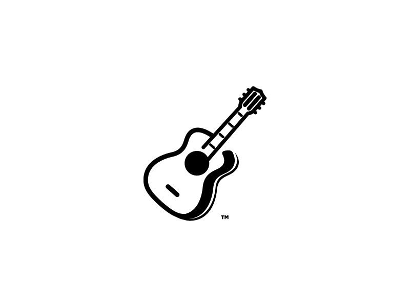 Acoustic Guitar band mark icon rock stings music acoustic guitar logo