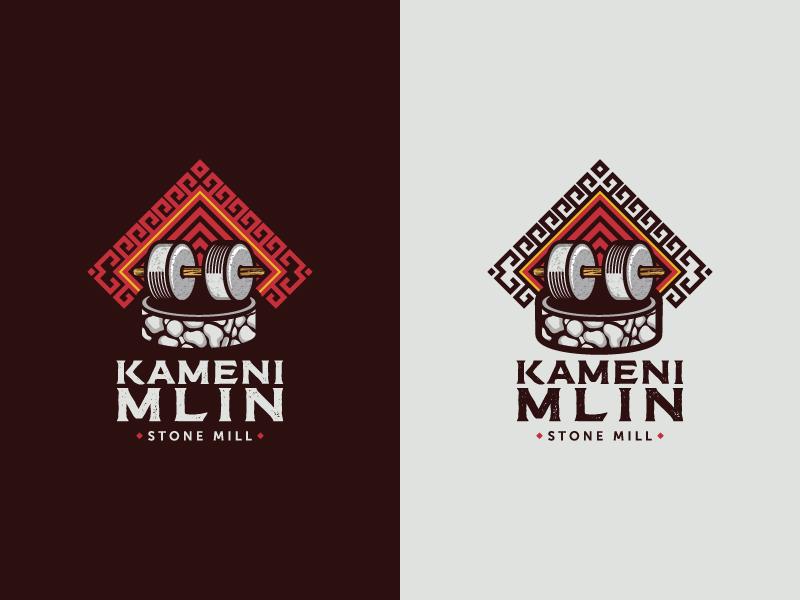 Kameni Mlin (Stone Mill) tourism dubrovnik konavle croatia logo vintage wood stone mill mill stone