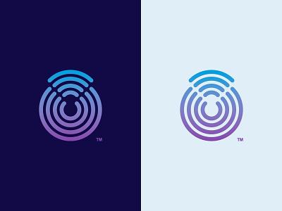 Sending Signals mark branding modern it wifi wireless tech minimal art line logo icon