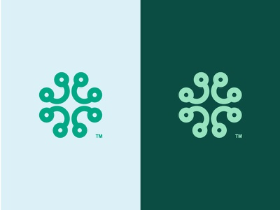 Abstract Clover for sale abstract clover green irish ireland shamrock logo icon tech