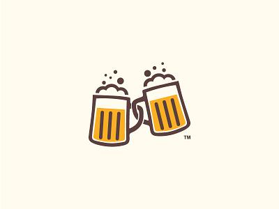 Bheers! mark logo pint pub restaurant brewery craft cheers foam glass beer beers