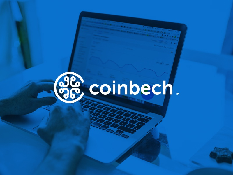 coinbech stocks trade buy sell branding symbol icon money trading cryptocurrency logo