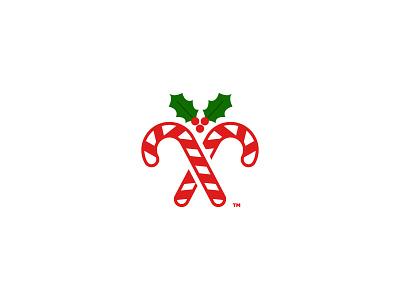 Candy Cane merry christmas december santa holiday holly candy cane logo christmas
