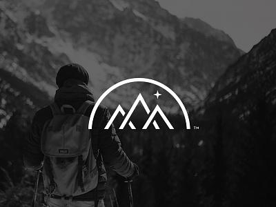 Mountain Mark v2 mountain outdoors line art mark illustration icon branding logo