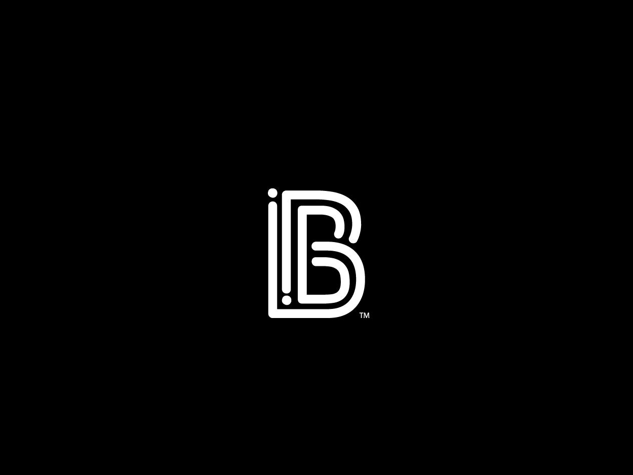B mark unused for sale brand line art custom logo mark icon letter b