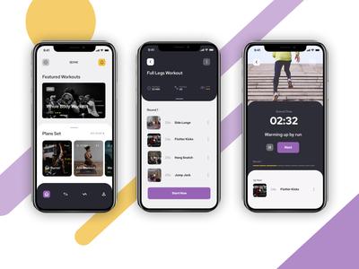 UI Daily Design - 16 Fitness App