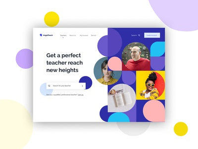 Daily UI Design - 15 Educational Landing Page