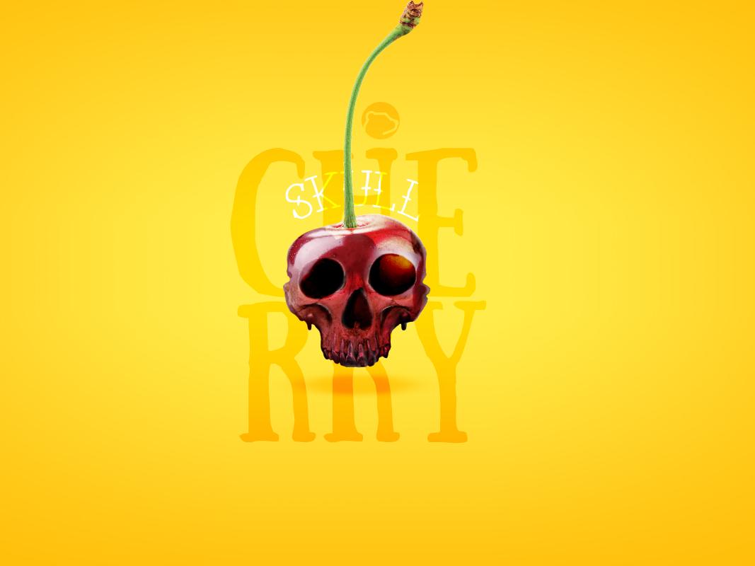 Cherry Skull design art skull manipulation adobe photoshop