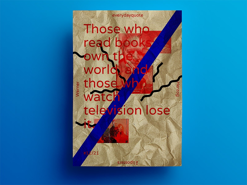 21 days of posters #12 herzog experimental trendy typography 21dayproject inspirational poster