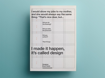 21 days of posters #17 quote design webb grid art typography aesthetic 21dayproject inspirational poster