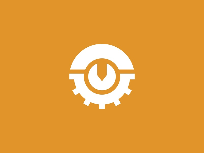 Industrial Logo Concept gear industrial minimalist simple logo design business brand logo design