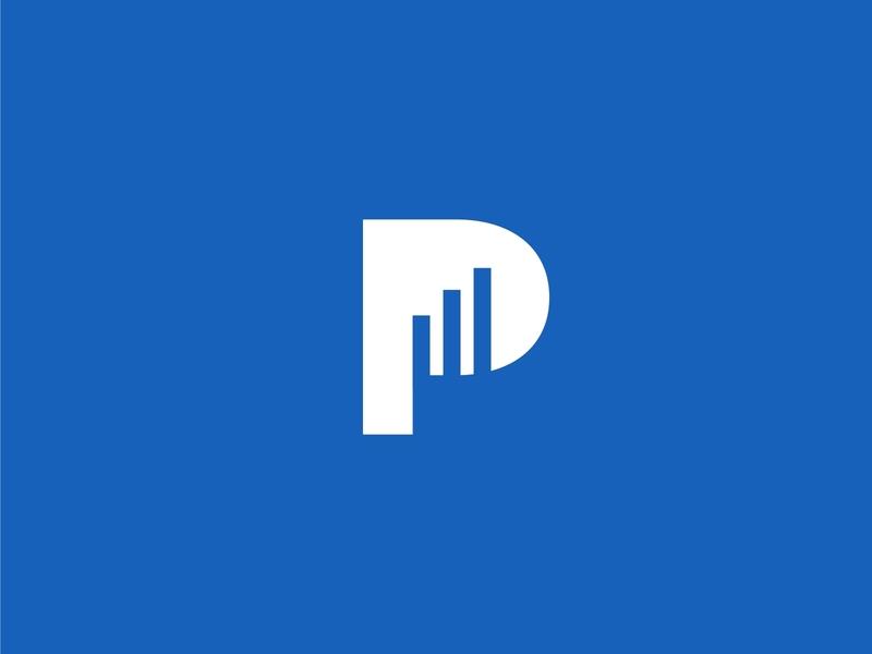 P Letter Finance Logo concept finance letter p minimalist simple logo design business logo design