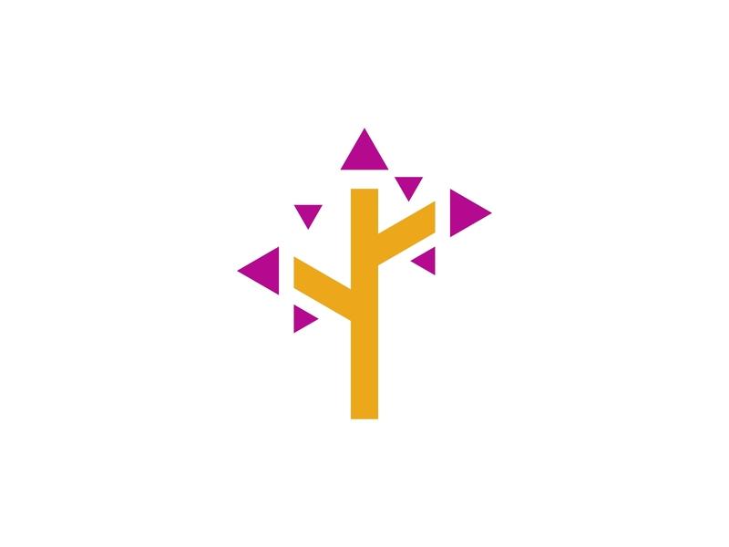 Tree Media Logo Design Concept modern media tree minimalist logo design simple business brand logo design