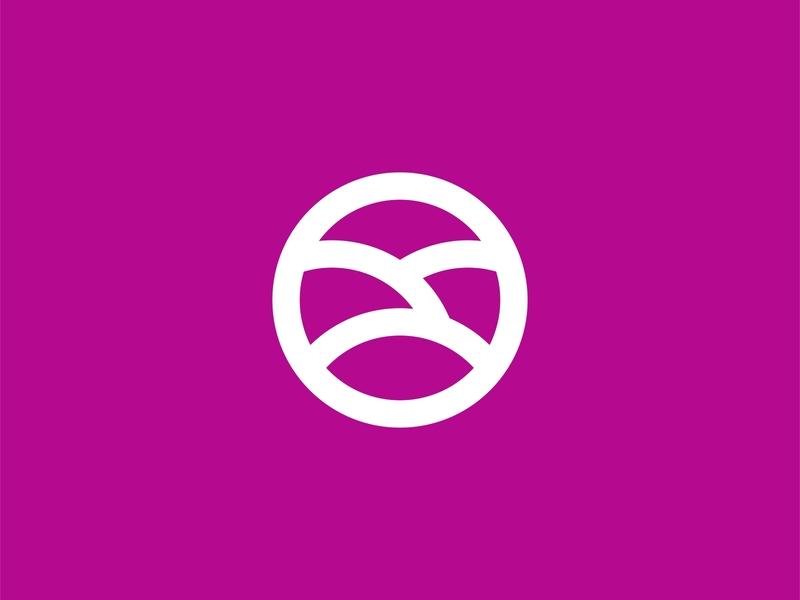 Abstrak Circle Logo Concept circle abstract bold brand logo design simple minimalist logo design