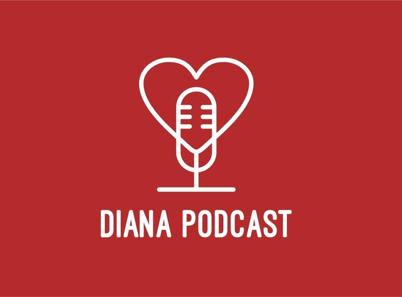 Diana Podcast minimalist logo design podcast brand logo design business simple design logo minimalist