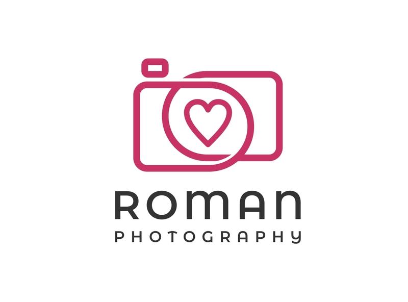 roman photography minimalist logo design heart romance logo photography logo logo ideas inspirational logo abstract logo business logo design branding simple logo minimalist logo logo design