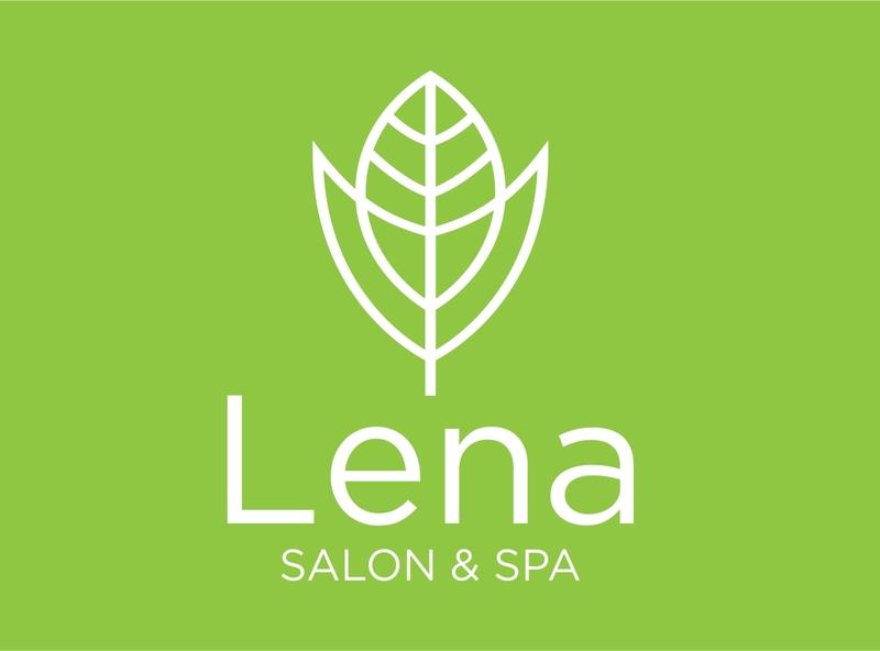 Lena minimalist logo design leaf logo beauty logo salon logo spa logo logo ideas inspirational logo abstract logo business logo design branding simple logo minimalist logo logo design