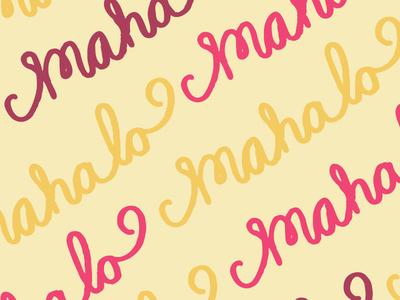 Mahalo Pattern Card