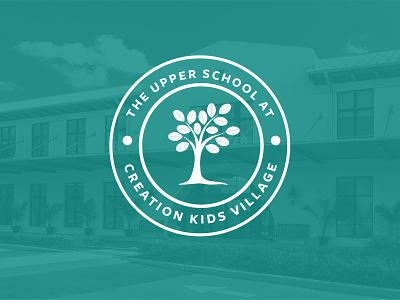 Upper School Logo tree badge elementary school logo