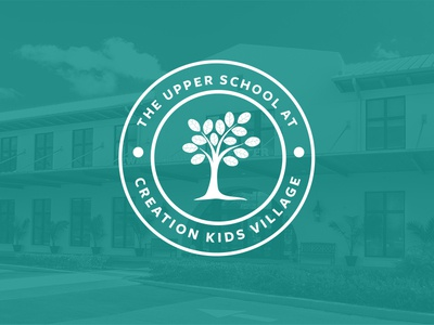 Upper School Logo tree badge elementary school logo