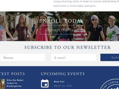 Lower School Landing Page landing page elementary school education