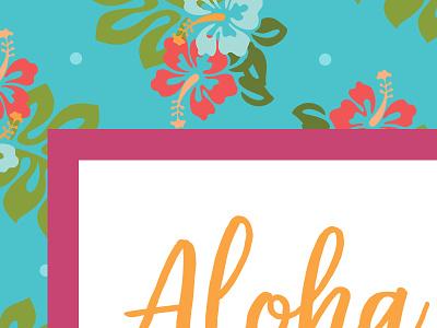 Birthday Luau - WIP hawaiian luau aloha hibiscus