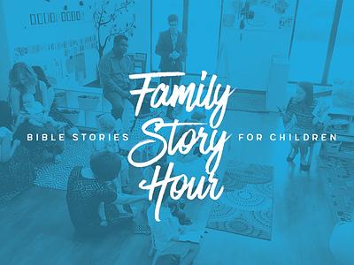 Family Story Hour Rebranding logo ministry church design