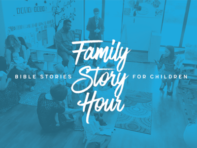 Family Story Hour Rebranding logo ministry church design