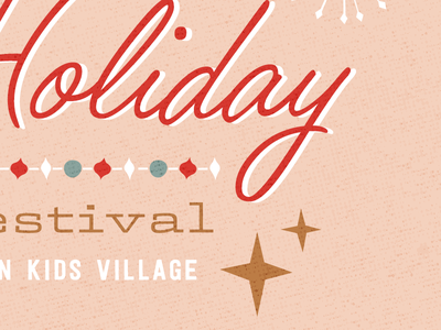 Holiday Craft Fair typography vintage holiday christmas retro