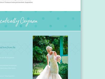 Tropical Site Mockup - Featured magazine website ui design tropical textures