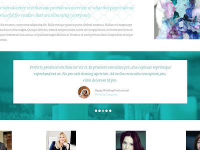 Tropical Site Testimonial typography design website ui slider testimonial