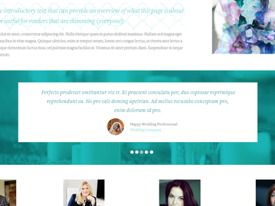 Tropical Site Testimonial typography design website ui slider testimonial