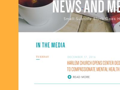 Media Page - WIP