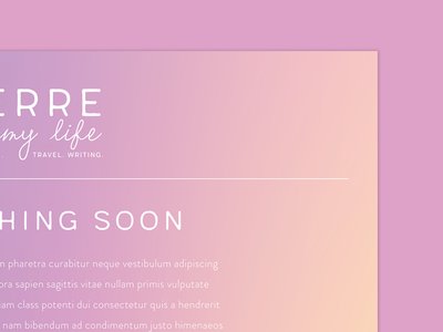 PIML Landing Page gradients branding landing page blogging