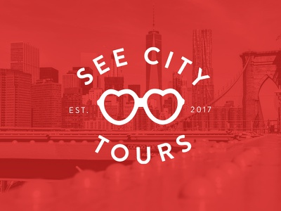 See City Tours travel tours sunglasses nyc logo branding
