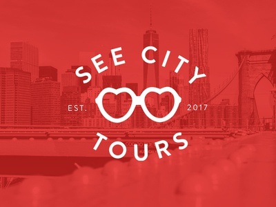 See City Tours travel tours sunglasses nyc logo branding