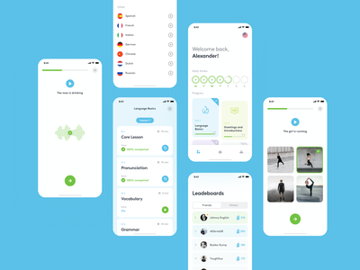 Rosetta Stone app ui redesign minimal ios app strv ux ios light strvcom learning language learning platform rosetta rosetta stone concept