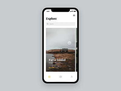 Travel Stories [Concept] protopie gps clean map app tom vranek strvcom travelling guide explore travel light design black concept ios strv ux minimal app ui