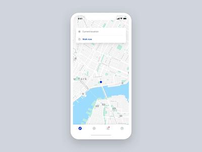 People Walker – Book a Walk search list profile booking blue tom vranek walk map strvcom strv light ui ux ios minimal app