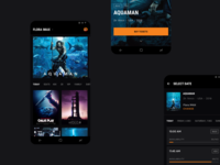 Cinema City [Android Concept] minimal concept strv orange app android app popcorn dark black movies strvcom ui ux material ui materialdesign android seats tickets cinema cinema city