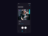 Stax App ui  ux dark theme dark app swipe cards tom vranek app ios design strvcom strv minimal leagueoflegends gamers esport ux ui dark ui dark
