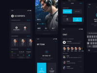 Stax App dark dark ui ux ui esport gamers leagueoflegends minimal strv strvcom design ios app tom vranek cards swipe dark app dark theme ux ui