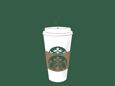 Animated Starbucks Cup illustration design coffee starbucks ipad pro glasgow scotland procreate ipad digital illustration digital art