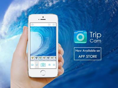 Trip Cam ios7 camera photo travel trip blue ui ue green