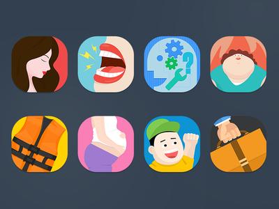 icon icon ios7 speaking pregnant mouth fat office boy life jacket women