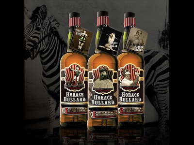 Cirque du Freak 10 yr. whiskey productdesign packaging whiskey label scotch circus freaks oddities lizzarama